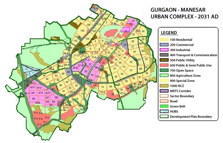 Gurgaon Master Plan 2031 9711414455